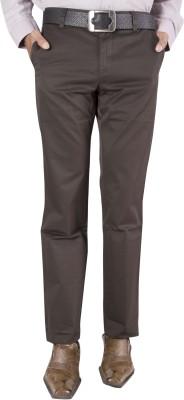Barrier Reef Slim Fit Men's Brown Trousers