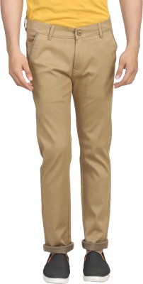 ELVIN Slim Fit Men's Beige Trousers