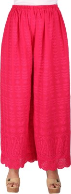 Ayesha Creations Regular Fit Women's Pink Trousers