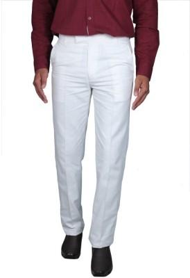 Febulous Regular Fit Men's White Trousers