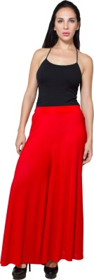 G&Z Collections Regular Fit Women's Red Trousers