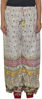 Pezzava Regular Fit Women's White, Pink Trousers