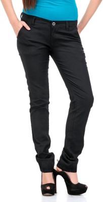 Fashion Cult Slim Fit Women,s Black Trousers