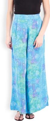 Folklore Regular Fit Women's Green, Light Blue Trousers