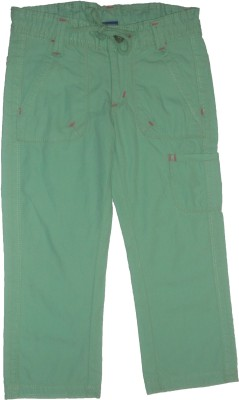 Red Rose Regular Fit Girls Light Green Trousers
