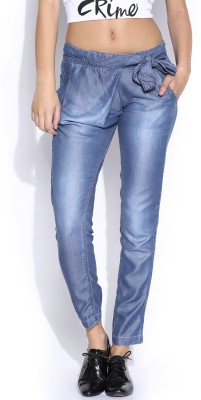 HRX by Hrithik Roshan Regular Fit Women's Blue Trousers at flipkart