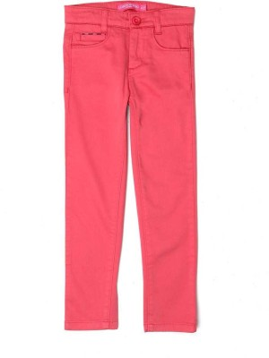 London Fog Regular Fit Girl's Pink Trousers