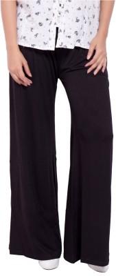 diva boutique Regular Fit Women's Black Trousers
