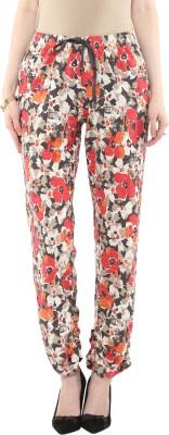 Rose Vanessa Slim Fit Women's Multicolor Trousers