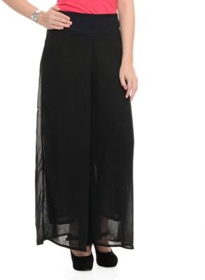 shreya Regular Fit Women's Black Trousers