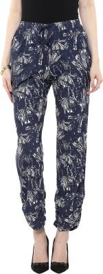 Rose Vanessa Slim Fit Women's Blue Trousers