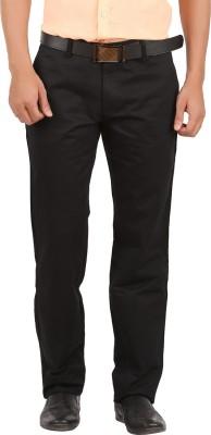 GM Regular Fit Men's Black Trousers