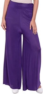 Ace Regular Fit Women's Purple Trousers