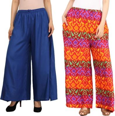 Guru Nanak Fashions Regular Fit Women's Blue, Multicolor Trousers