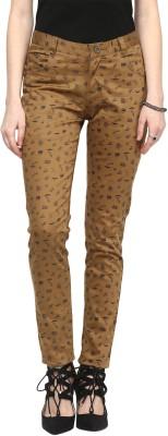 Sakhi Sang Slim Fit Women's Beige Trousers