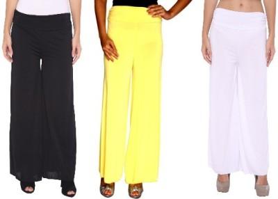 Zadine Regular Fit Women,s Black, Yellow, White Trousers