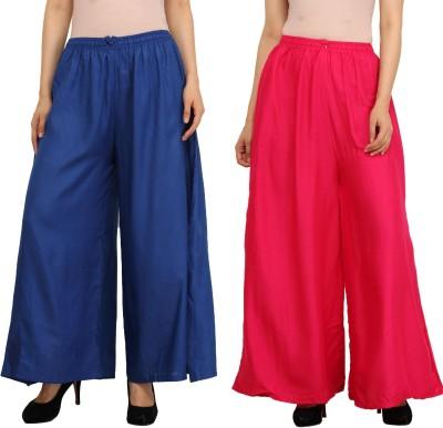 Guru Nanak Fashions Regular Fit Women's Blue, Pink Trousers