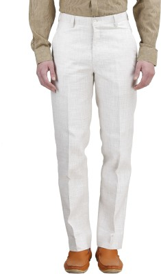 Gazi Regular Fit Men's White Trousers