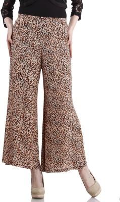 Peptrends Regular Fit Women's Brown Trousers