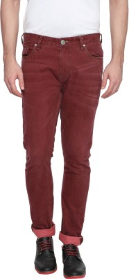 Zovi Slim Fit Men's Red Trousers