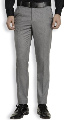 Black Coffee Slim Fit Men's Grey Trousers