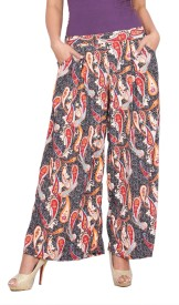 Rama Regular Fit Women's Multicolor Trousers