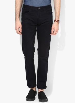 FLAH Slim Fit Men's Dark Blue Trousers