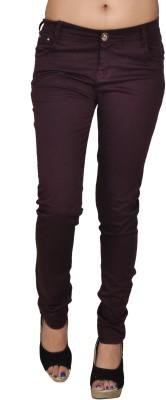 Coaster Skinny Fit Women's Purple Trousers