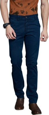 Route 66 Slim Fit Men's Dark Blue Trousers