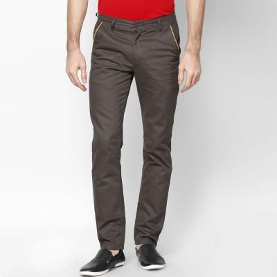 Haute Couture Slim Fit Men's Dark Green Trousers