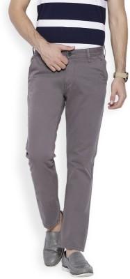 OFFLINE Slim Fit Men's Grey Trousers