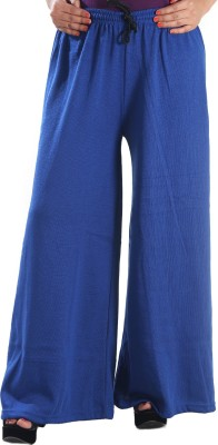 Stay Blessed Regular Fit Women's Blue Trousers