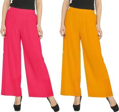 Civilized Showdown Regular Fit Women's Pink, Orange Trousers