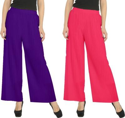 Civilized Showdown Regular Fit Women's Purple, Pink Trousers