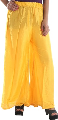 Awesome Regular Fit Women's Yellow Trousers