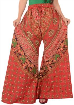 Skirts & Scarves Regular Fit Women's Orange Trousers
