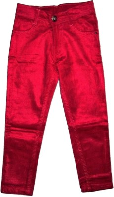 Gungun Fashion Skinny Fit Girl,s Red Trousers