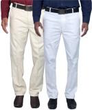 Rich Perk Slim Fit Men's Linen White, Be...