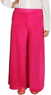 Shahfali Regular Fit Womens Pink Trousers