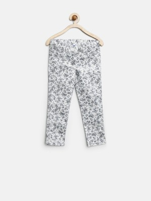 Yk Slim Fit Girl's White Trousers