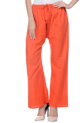 Aarushi Fashion Regular Fit Women's Orange Trousers