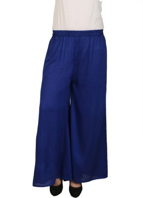 C/Cotton Comfort Regular Fit Women's Blue Trousers