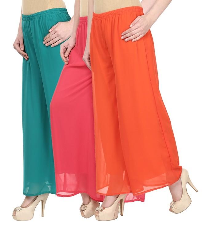SYS Regular Fit Women's Green, Pink, Orange Trousers