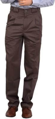Bottoms Regular Fit Men's Brown Trousers