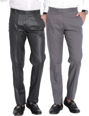 Fizzaro Regular Fit Men's Grey, Grey Trousers