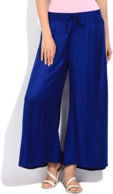 People Regular Fit Women's Blue Trousers