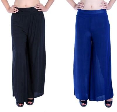 Ajaero Regular Fit Women's Black, Dark Blue Trousers