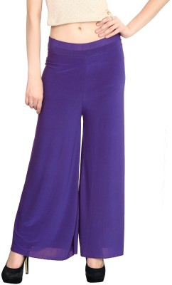 Rooliums Regular Fit Womens Purple Trousers