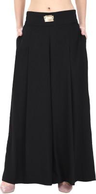 Natty India Regular Fit Women's Black Trousers at flipkart