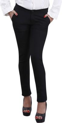 Devis Regular Fit Women's Black Trousers